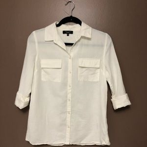 New Look • Off-White • Button-Down • UK10 Petite